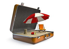 Package holiday beach Royalty Free Stock Image
