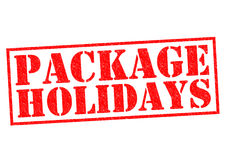 PACKAGE HOLIDAYS Royalty Free Stock Image