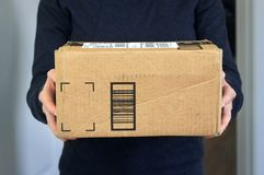 Package home delivery Stock Photos