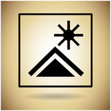 Package Icon Protection Fragile Sign Royalty Free Stock Images