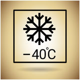 Package Icon Temperature Protection Fragile Sign Royalty Free Stock Images