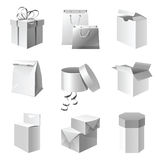 Package icons Royalty Free Stock Photos
