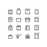 Package icons. Bags and package icons. design icons. Royalty Free Stock Photography