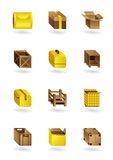 Package icons set Royalty Free Stock Photography
