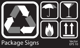 Package Icons Set Stock Photo