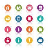 Package icons Stock Photos