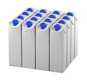 Package line-up. Line-up of a clear package models Royalty Free Stock Images