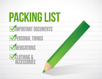 Package list check mark list illustration design Royalty Free Stock Photos