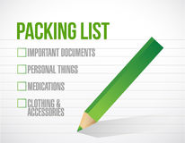 Package list check mark list illustration Stock Photo