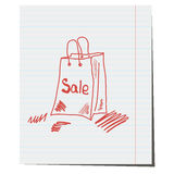 Package logo sale Stock Photo