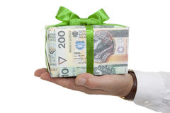 Package with money Royalty Free Stock Photos