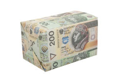 Package with money Royalty Free Stock Photo
