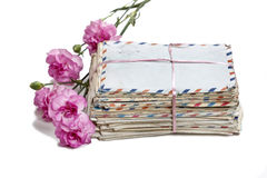 Package of old letters Stock Image