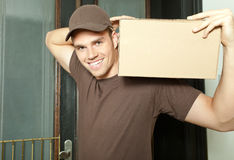 Package On Shoulder Royalty Free Stock Images