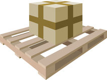 Package on a pallet Royalty Free Stock Photos