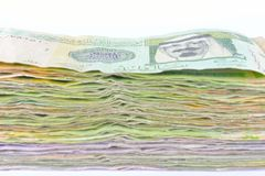 Package paper currency of Saudi Arabia closeup Stock Photography