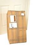 Package/Parcel at Door Stock Image