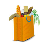 Package with products. Stock Images