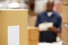 Package Ready For Dispatch In Warehouse Royalty Free Stock Image