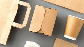 Disposable paper takeaway food packing stuff