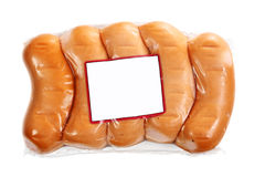 Package of small sausage Stock Photography