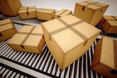 Package sorting. Royalty Free Stock Image