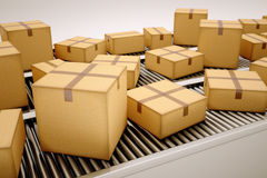 Package sorting. Stock Photos