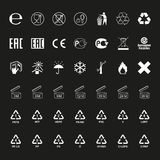 Package symbols set, vector Stock Images