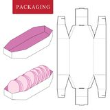 Package Template. Isolated White Retail Mock up stock illustration