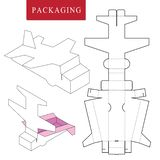 Package Template. Isolated White Retail Mock up royalty free illustration