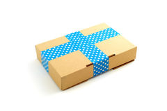Package with textured tape on white isolated background Royalty Free Stock Image