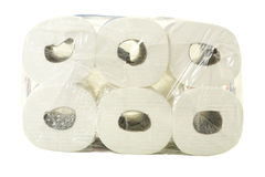 Package of Toilet Paper Stock Photos