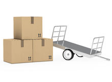 Package trailer Royalty Free Stock Photos