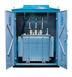 Package transformer substation Stock Photos