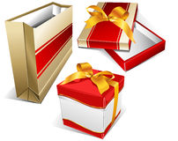 Package and two box Royalty Free Stock Images