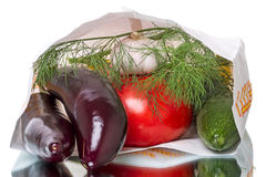 Package with vegetables Stock Image