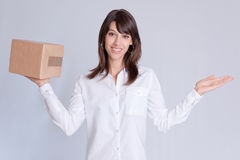 Package weighing Stock Photo