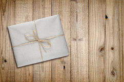 Package on wood Royalty Free Stock Photos