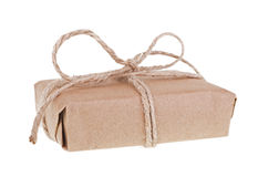 Package Wrapped With Brown Paper and String Stock Photography