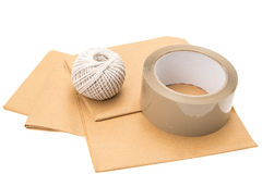 Package wrapping items Stock Photography