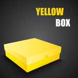 Package yellow box design Stock Image