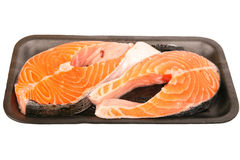 Packaged Atlantic Salmon Steaks Royalty Free Stock Photography