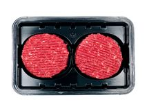 Packaged Beef Patties Royalty Free Stock Photos