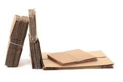 Packaged cardboard. Royalty Free Stock Image