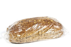 Packaged in plastic bread Stock Images