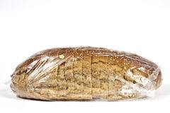 Packaged in plastic bread Royalty Free Stock Images