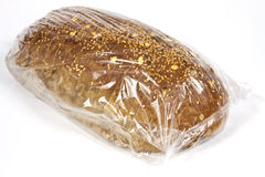 Packaged in plastic bread Stock Photos