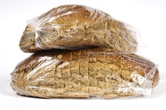 Packaged in plastic bread Stock Photo