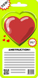 Packaged for sale heart Royalty Free Stock Photography
