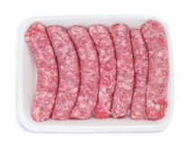 Packaged sausages Royalty Free Stock Photos